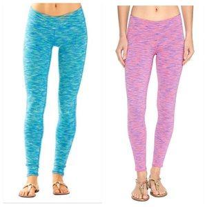 EUC Luxletic Blue & Pink Space Dye leggings Small
